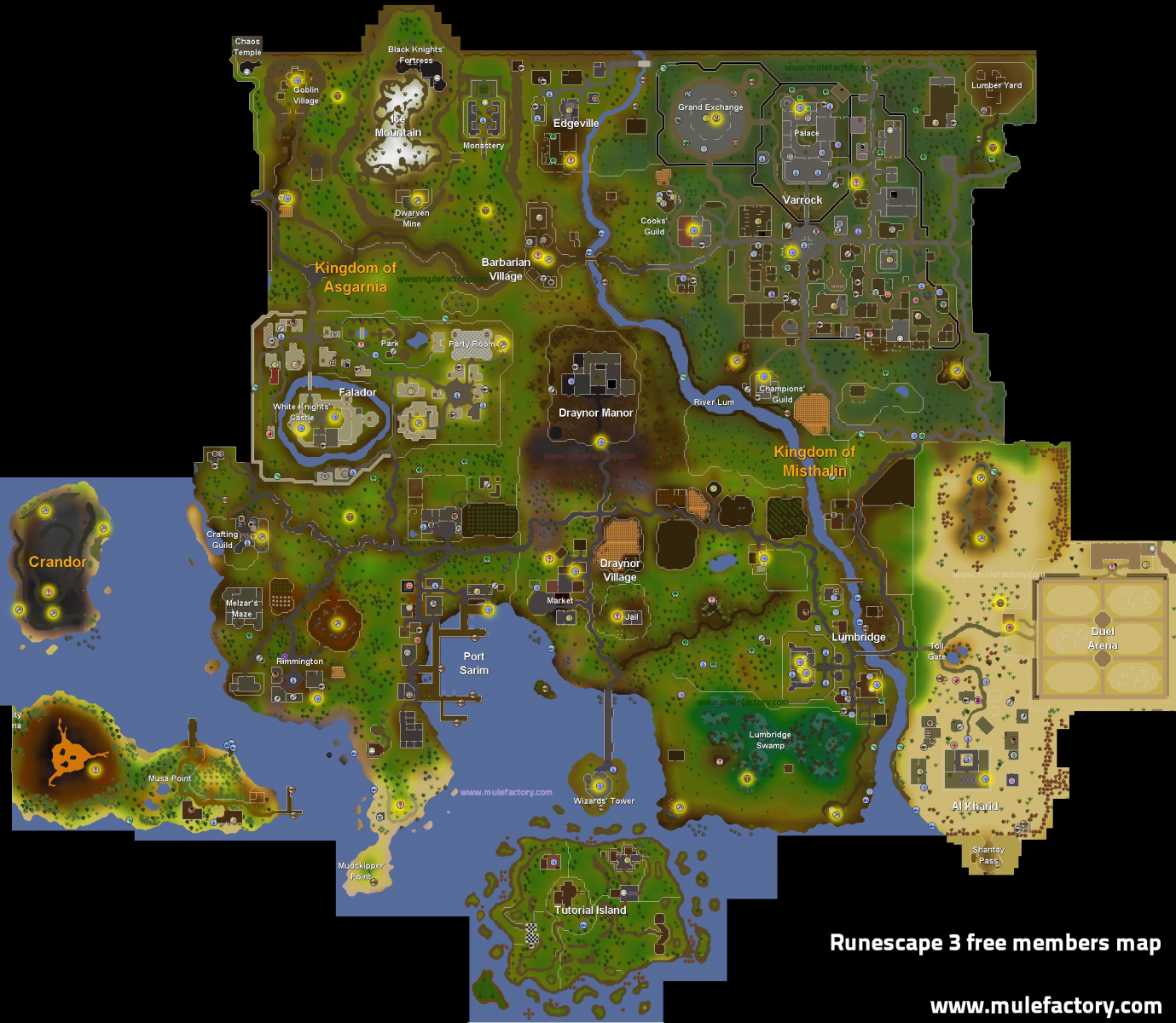 Members-only and free maps - Runescape 3 wiki
