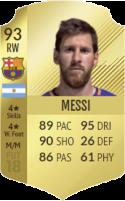 FIFA 18: Lionel Messi - Gold 93 RW