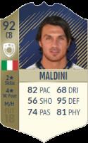 FIFA 18: Paolo Maldini - Icon 92 CB