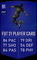 FUT 21 Neymar - UCL 91 LW