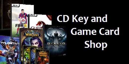 CD keys and game cards key shop logo